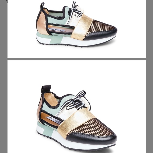 cf5e18b7b62 NEW Steve Madden Arctic Green Multi Sneakers